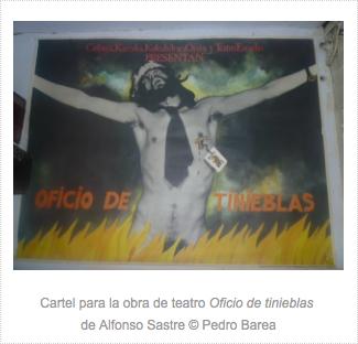Cartel Oficio de tinieblas+leyenda