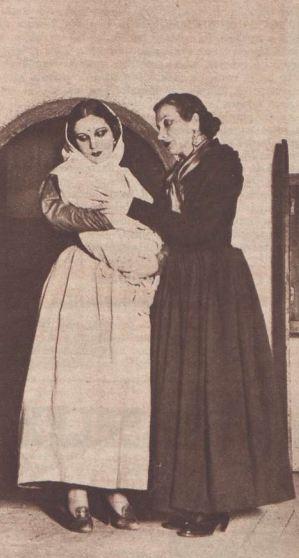 Margarita Xirgu y Pilar Muñoz en Yerma