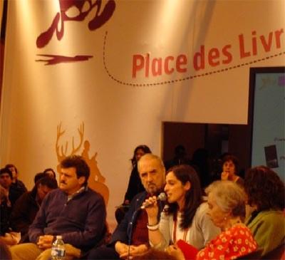 Table ronde « Mexico vue par ses écrivains », présentée par Suzi Vieira,  avec Enrique Serna, Jean-Claude Carrière, Guadalupe Nettel et Elena Poniatowska