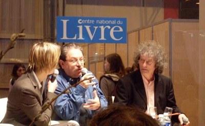 Paco Ignacio Taibo II et son traducteur Claude Bleton