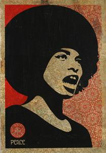 Shepard Fairey - Angela Davis