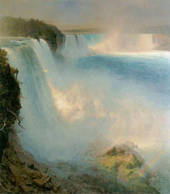 Niagara Falls, from the American Side, 1867, Frederic Edwin Church (American, 1826-1900)