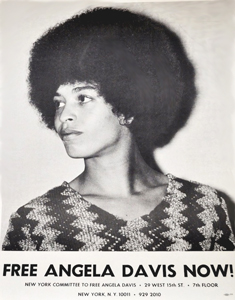 Poster using F. Joseph Crawford's photograph of Angela Davis (1969)