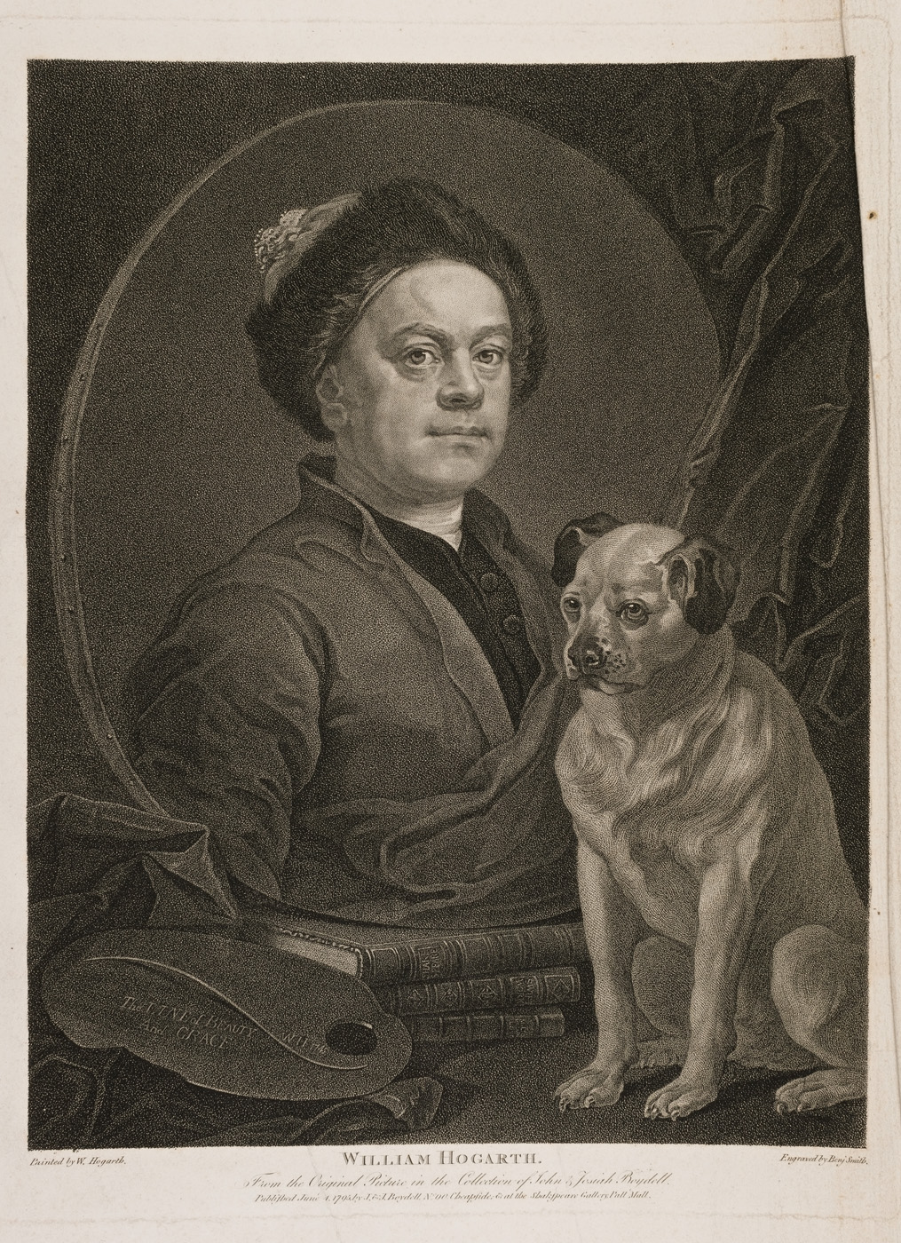 PORTRAIT of Hogarth with his Dog Trump