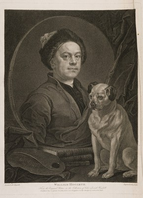 PORTRAIT of Hogarth with his Dog Trump