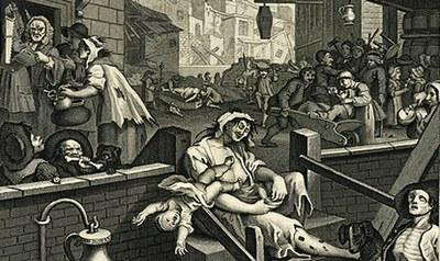 Hogarth, Gin Lane, 1751