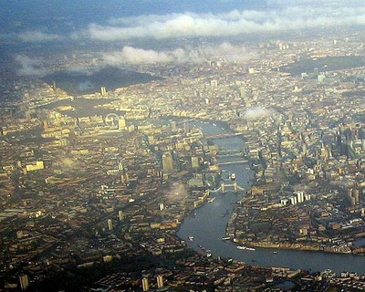 London Aerial View Close Up