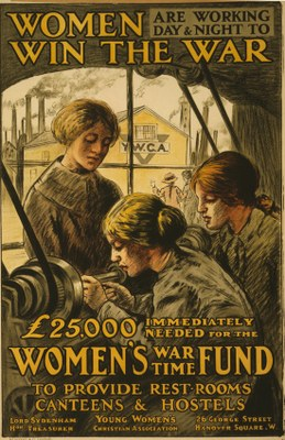 Women are working day and night to win the war