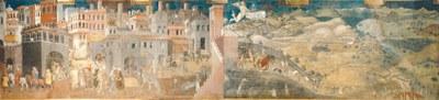 Ambrogio Lorenzetti, Effetti del buon governo, Siena, Palazzo comunale (1338 circa)]