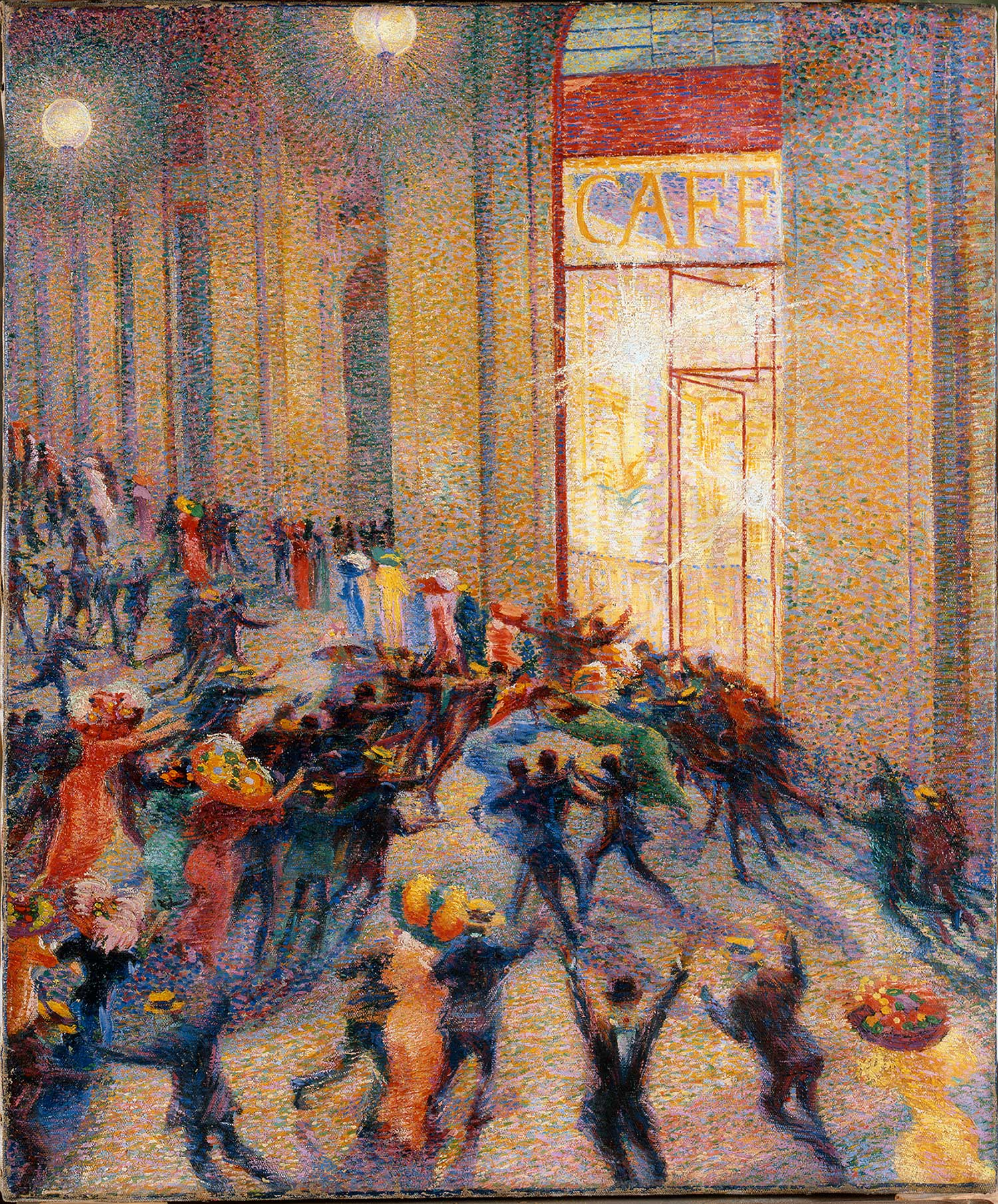 Rissa in galleria de Umberto Boccioni, 1910 (Pinacoteca di Brera, Milano