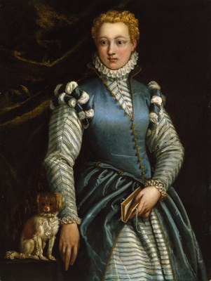Portrait of a Woman with a Dog   Veronese   Museo Thyssen